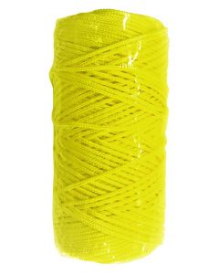 Corde de maçon ronde nylon jaune sous film
