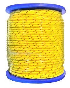 Polypropylène tressé jaune bobine