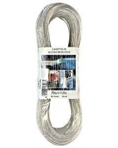 Câble á linge zingué transparent